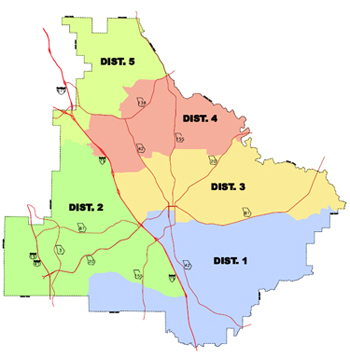 Henry County Board of Commissioners - District Map